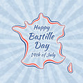 Happy Bastille Day and 14th July Royalty Free Stock Photo
