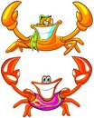 Happy beach crabs Stock Photo