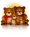 Happy bear family in harmony Stock Photos