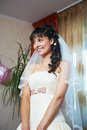 Happy beautiful bride in wedding dress Royalty Free Stock Image