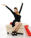 Happy beautiful girl with shopping bags Royalty Free Stock Photo
