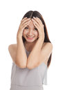 Happy beautiful young Asian woman laughing Royalty Free Stock Photo