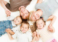 Happy big family together on white background Stock Photos