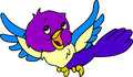 Happy birdie a colorful with open wings Royalty Free Stock Photos