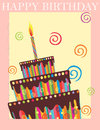Happy birthday background invitation design Royalty Free Stock Photography