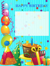 Happy birthday background invitation design Stock Photo