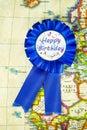 Happy birthday badge Royalty Free Stock Photo