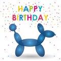 Happy Birthday Balloon Dog Sha...