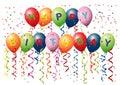 Happy Birthday Balloons Royalty Free Stock Photo