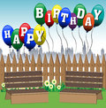 Happy Birthday balloons Royalty Free Stock Image
