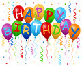 Happy Birthday Balloons Banner Royalty Free Stock Photo