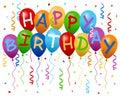 Šťastný narodeninové balóniky reklamný formát primárne určený pre použitie na webových stránkach