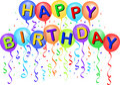 Šťastný narozeninové balónky / obdélník ohraničující tisknutelnou oblast