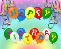 Happy Birthday Balloons invitation Stock Images
