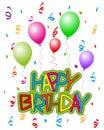 Happy Birthday with Balloons 2