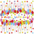 Happy birthday banner Royalty Free Stock Photography