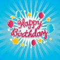 Happy Birthday Banner Royalty Free Stock Photos