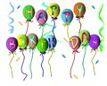 Happy Birthday banner for parties, wishes on white back ground