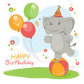 Happy Birthday card. Royalty Free Stock Photo