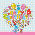 Happy Birthday card Royalty Free Stock Photography