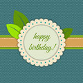 Happy Birthday Card With Abstract Flower