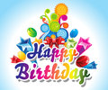 Happy birthday card background vector illustration Royalty Free Stock Photography