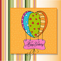 Happy birthday card with balloons Royalty Free Stock Image
