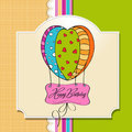 Happy birthday card with balloons. Royalty Free Stock Photo