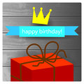 Happy birthday card children anniversary vector illustration Royalty Free Stock Photo