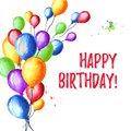 Happy Birthday Card. Colorful ...