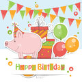 Happy Birthday card . Royalty Free Stock Photo