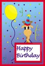 Happy birthday card giraffe Royalty Free Stock Image