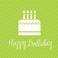 Happy birthday card over green background vector illustration Royalty Free Stock Image