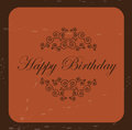 Happy birthday card over vintage background vector illustration Royalty Free Stock Photo
