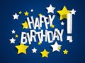 Happy birthday card with stars illustration Royalty Free Stock Images