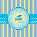 Happy birthday card for to you Royalty Free Stock Photo