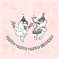 Happy Birthday card with two cute bears.
