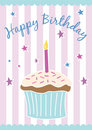 Happy birthday card (vector) Stock Images
