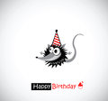 Happy Birthday Cards mouse Royalty Free Stock Photo
