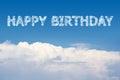 Happy Birthday Cloud Royalty Free Stock Photo