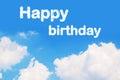 Happy birthday cloud word Royalty Free Stock Photo