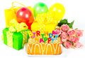 Happy Birthday! colorful party decoration Royalty Free Stock Images