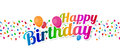 Happy Birthday Colorful Sign W...