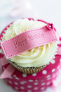 Happy birthday cupcake Stock Images