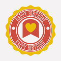 Happy birthday design over background vector illustration Royalty Free Stock Photos