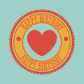 Happy birthday design over background vector illustration Stock Photos