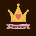 Happy birthday design over black backgrund vector illustration Stock Photography