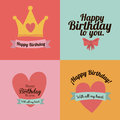 Happy birthday design over colors backgrund vector illustration Stock Image