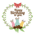 Happy birthday design over white backgrund vector illustration Royalty Free Stock Image