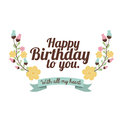 Happy birthday design over white backgrund vector illustration Stock Images
